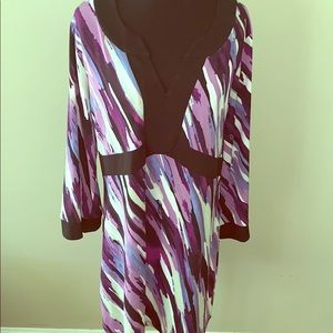Style and Company Purple Multiple Colored Tunic